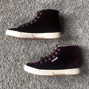 Superga Velvet High top Sneakers